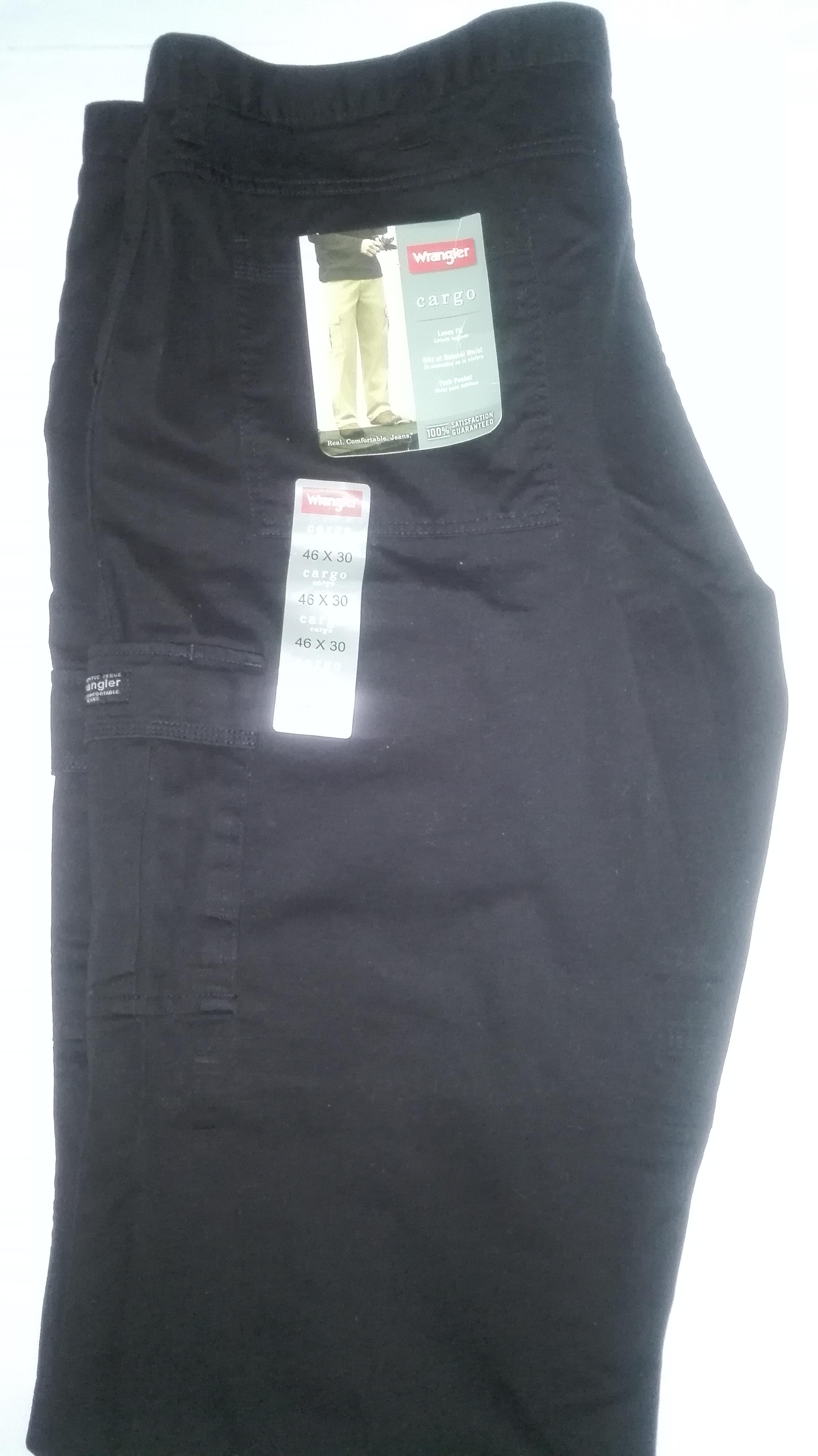 Pantalones Cargo Marca Wrangler Natural Waist Big Tall Panama For Men